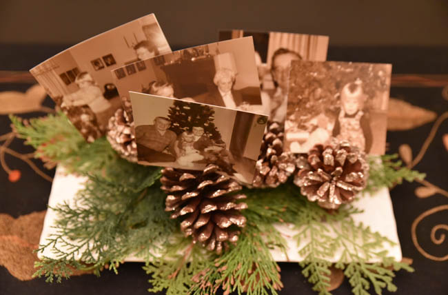 Pine Cone amp Photo Centerpiece Darling Fig